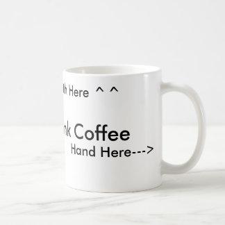 Cómo beber el café para la gente derecha tazas de café