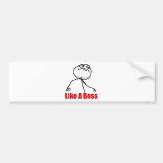 Como Boss Etiqueta De Parachoque