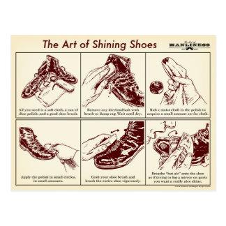 Cómo brillar la postal de la guía ilustrada de los