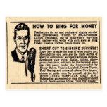 """""""Cómo cantar para postal del dinero"""""""