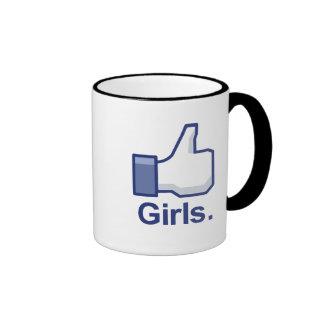 Como chicas taza