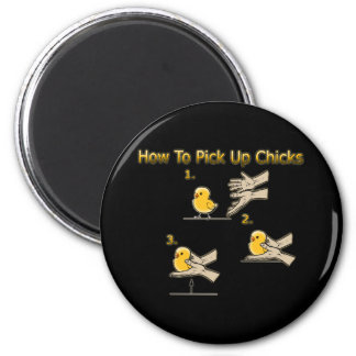 Cómo coger direcciones divertidas de los polluelos imán redondo 5 cm