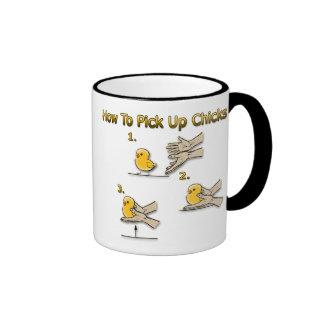 Cómo coger direcciones divertidas de los polluelos taza de dos colores