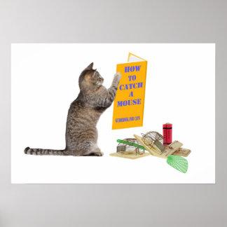Cómo coger un ratón póster