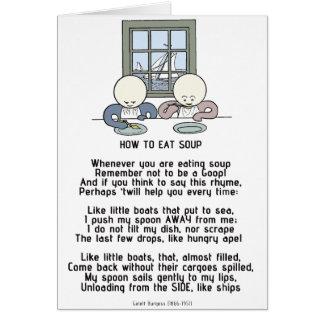 Cómo comer la sopa - el Goops Tarjeta De Felicitación