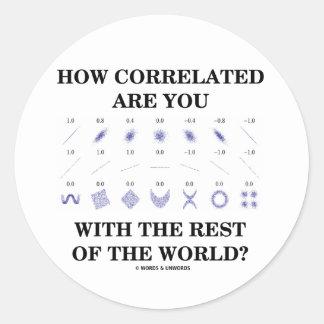 ¿Cómo Correlated está usted con el resto del Pegatina Redonda