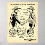 Cómo dar un poster de hombres del apretón de manos