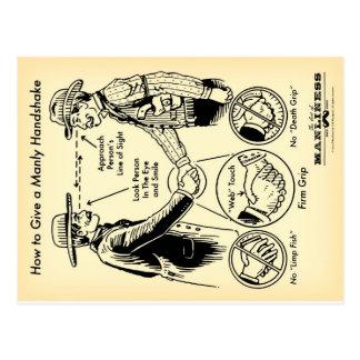 Cómo dar una postal de hombres del apretón de mano