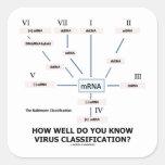 ¿Como de bien usted sabe la clasificación del Calcomania Cuadradas Personalizadas