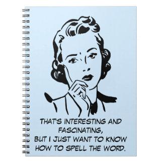 Cómo deletrear la cita de la información de la cuaderno