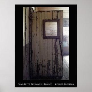 Como Depot Restoration Poster