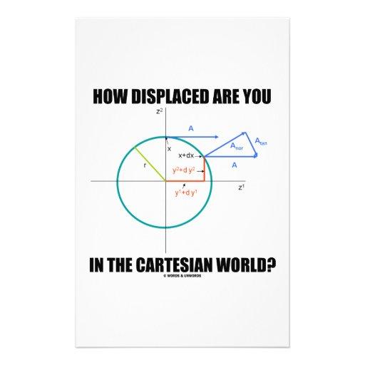 ¿Cómo desplazado es usted en el mundo cartesiano? Papeleria De Diseño