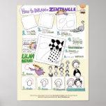 Cómo dibujar un poster de Zentangle®