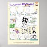 Cómo dibujar un Zentangle® - poster grande