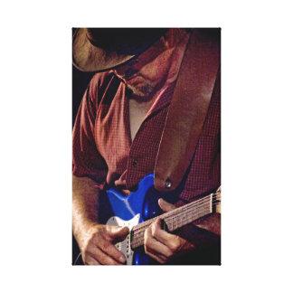 Cómo el azul puede usted conseguir - guitarrista d lona estirada galerias
