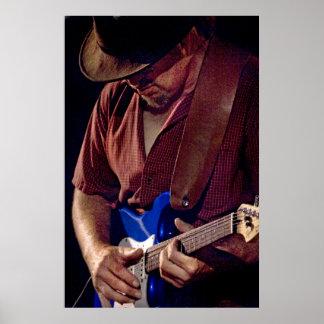 Cómo el azul puede usted conseguir - guitarrista d poster
