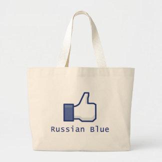 Como el azul ruso bolsa de mano