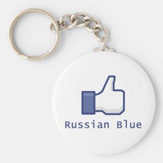 Como el azul ruso llavero redondo tipo pin