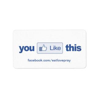 Como el botón - etiquetas promocionales - añada su etiqueta de dirección