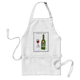 Cómo el MERLOT puede usted ir impresión del vino d Delantal