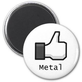 Como el metal imán redondo 5 cm