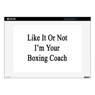 Como él o no mí es su coche del boxeo calcomanías para 38,1cm portátiles