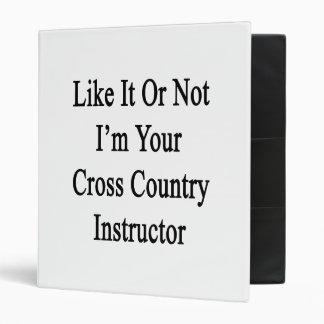 Como él o no mí es su instructor del campo a travé