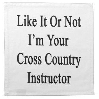 Como él o no mí es su instructor del campo a travé servilleta de papel
