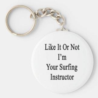 Como él o no mí es su instructor que practica surf