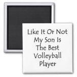 Como él o no mi hijo es el mejor voleibol Playe Imán Para Frigorifico