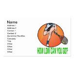 Cómo el punto bajo puede usted ir plantillas de tarjetas de visita