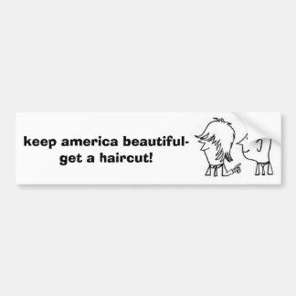 como el suyo, el amor, guarda América hermoso-para Etiqueta De Parachoque