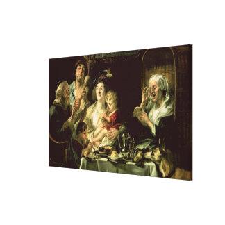 Como el viejo cante, tan el tubo joven, 1638 lona envuelta para galerías