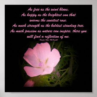 Como el viento sopla tan libremente,… poster flora