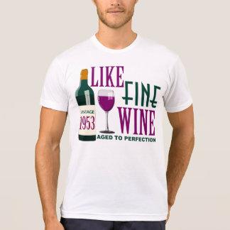 COMO EL VINO fino envejecido al vintage 1953 de la Camiseta