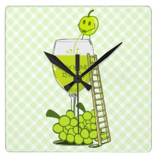 Cómo el vino se hace ejemplo divertido relojes