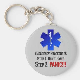 Cómo EMTs responde a su emergencia Llavero Redondo Tipo Pin