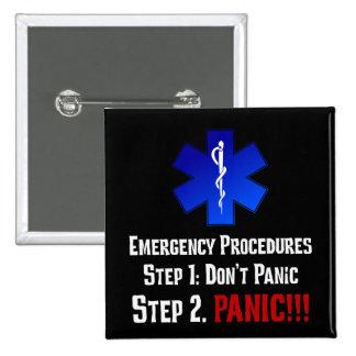 Cómo EMTs responde a su emergencia Pin Cuadrado