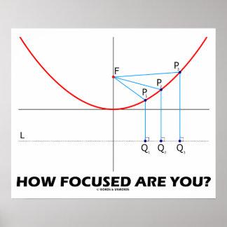 ¿Cómo enfocan le Gráfico de la parábola Poster