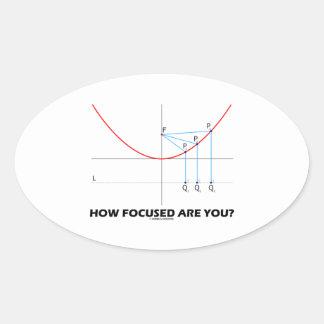 ¿Cómo enfocan le? (Gráfico de la parábola) Pegatina Ovalada