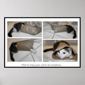 Cómo enviar su gato en una impresión divertida del posters