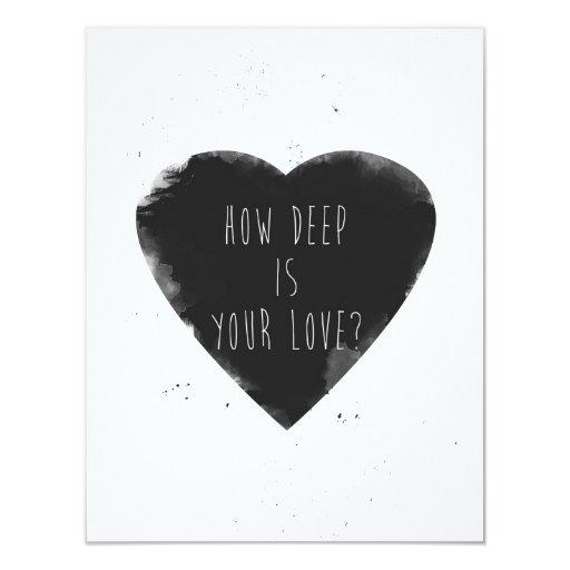 cómo es profundo es su amor invitación personalizada