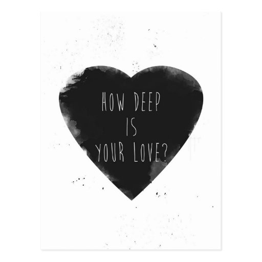 cómo es profundo es su amor postal