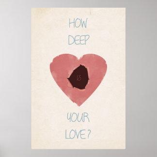 cómo es profundo es su amor póster
