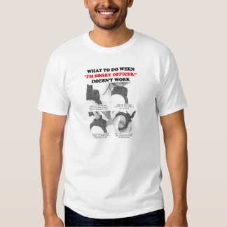Cómo escapar la camiseta divertida de los puños camisas