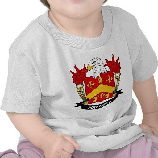 Cómo escudo de la familia camisetas