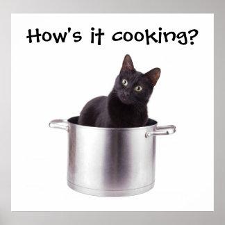 ¿Cómo está cocinando? Póster