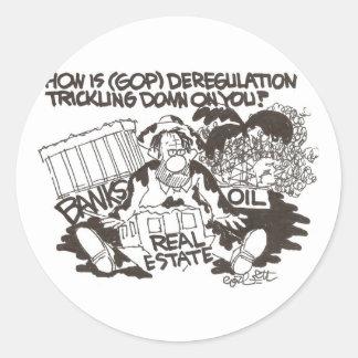 ¿Cómo está la desregulación (GOP) que gotea… en Pegatina Redonda