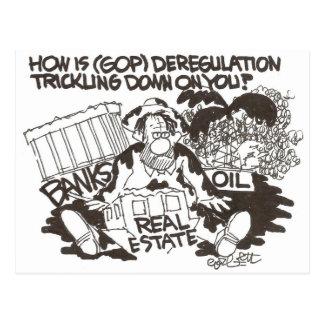 ¿Cómo está la desregulación (GOP) que gotea… en Tarjetas Postales