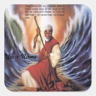 Como estaba con el pegatina de Moses